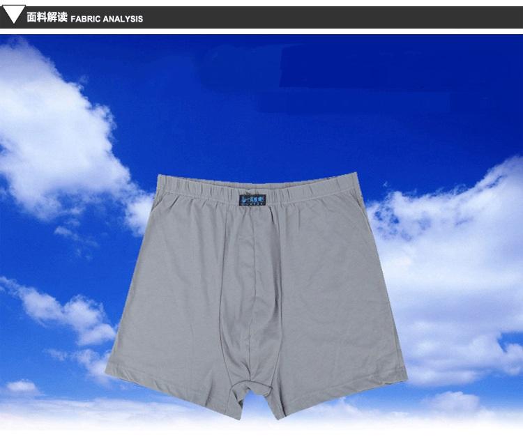 Male Men\`s Long Boxer Shorts Cotton Panties Mens Large Size Underpant Fat New Fashion Sexy Mr Underwear (4)