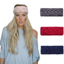 M MISM 6 Patterns Solid Knitted Headband High Quality Hair Accessories for Women Crochet Turban Head Wrap Girls Stretch Headwear