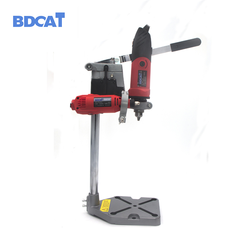 Dremel Electric Drill Stand Power Rotary Tools Accessories Bench Drill Press Stand DIY Tool Double Clamp Base Frame Drill Holder<br>