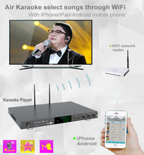 8866(#1) Home KTV 4K Ultra HD karaoke player system with Songs Cloud,Build In AGC/AVC and  Mic-Echo-in,support  Air KTV