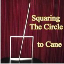 Free shipping! Squaring The Circle to Cane - Magic Trick,Fun,Stage,Close Up,street magic,Illusions,Magic Accessories,comedy