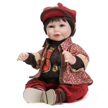 Dongzhur Wine Red Floral Reborn Boy Doll 52cm Npkdoll Christmas Gift Simulation Baby Rebron Doll Holiday Creative Sleepping Doll(China)
