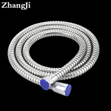 Zhangji Bathroom accessories stainless steel flexible water pipe 1.5m Rainfall shower hose Chrome shower arm shower pipe ZJ061(China)