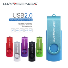 New Design Wansenda USB Flash Drives Swviel External Pen drive 64GB 32GB 16GB 8GB 4GB good quality Pendrives Creative pendrive