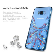 KAVARO Case for Samsung Galaxy S8 S8+ Swarovski Crystal Diamond Case Phoenix Phone Cover for Samsung Galaxy S8 Plus Cover Coque
