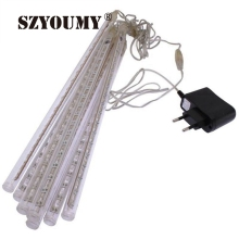 SZYOUMY FREE SHIPPING 30cm Meteor Shower Rain Tubes Christmas Lights Led Lamp 100-240V Outdoor Holiday Light New Year Decoration(China)
