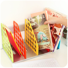 Creative Colorful Book Shelf File Magazine Holder Rack Desktop Plastic Storage Shelving Organizer Box For Office Home Storage