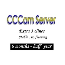 1 year CCCAM 3 lines super stable For Satellite receiver Set top box French Italy Sky Spain UK Germany by Free Shipping