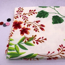 Floral Cotton Fabric Sewing Cheap China Fabrics Patchwork Tissue To Sew Home Textile Zakka Cloth Woven Telas Tecido A Metro(China)