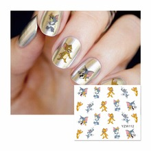 LCJ Nail Sticker Cartoon Water Adhesive Foil Nail Art Decorations Tool Water Decals 3d Design Nail Sticker Makeup 112