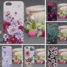 For iphone 5se case silicone soft Ultra Thin Cover  for iphone 5s luxury 3D Flower Shell For iPhone 5 Phone Case Soft TPU Covers