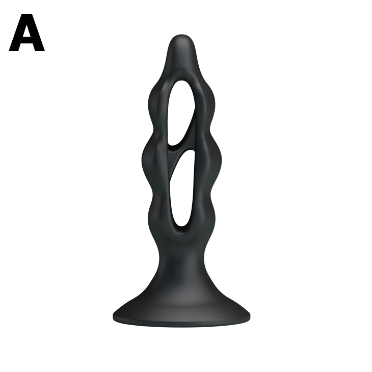 Anal Plug Prostate Massage Butt Plugs Black Silicone Soft Waterproof Erotic Toys for Anal Sex Toy 9