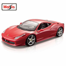 Maisto Bburago 1:24 458 Italia Diecast Model Car Toy New In Box Free Shipping