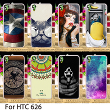 Cell Phone Cases For HTC Desire 626 Cover 650 628 626w 626D 626G 626S Hard Plastic Soft TPU Flowers Minions Skin Housing Sheath