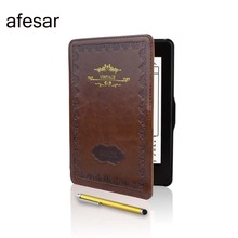 afesar Leather smart cover for Kindle Paperwhite1 2 3(2015 2014 2013 2012) kpw1 2 3 Case with Stylus Magnet closured&Auto Sleep(China)