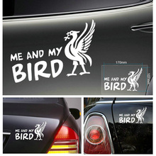 2017 New Promotion The Whole Body Me And My Bird Cartoon Reflective Funny Car Sticker for Jetta Opel Insignia for Ford Fiesta
