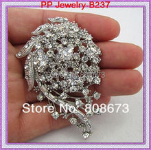 Wholesale Cheap Price Vintage Style Stunning Diamante Wedding Bridal Costume Brooch Sparkly Crystal Fashion Women Brooch