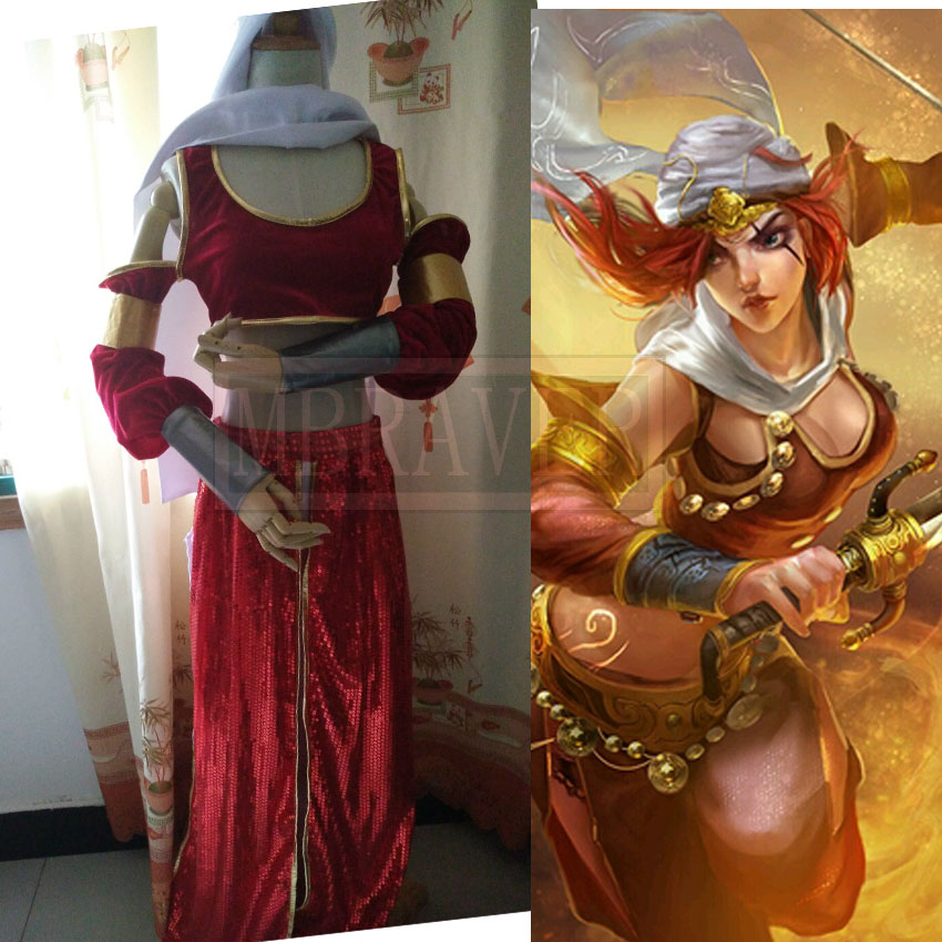 LOL Katarina Desert Storm Uniforms Cosplay Costume Customized Free Shipping
