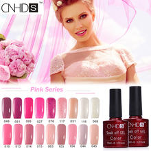 CNHIDS Pink Series Color Coat Nail Polish Long-lasting Soak Off Gel Polish UV & LED Lamp Nail Lacquer Polish DIY Manicure Art(China)
