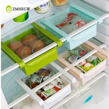 Convenient Slide Refrigerator Shelf Storage Rack Storage Box Food Container Kitchen Tools Pull-out Drawer Organiser Space Saver(China)