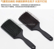 Free Shipping Hair Paddle Brush, Air cushion comb for head message and hair smooth, No tangle hair combs hot selling