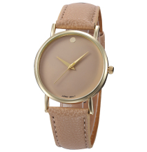 100pcs/lot new one dot leather watch no logo casual watch for unisex wrap quartz wristwatch wholesale hour clock(China)