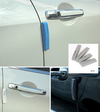 4pcs/lot EVA Car Door Protector Fiber Door side Edge Protection Guards Stickers for all car automobile accessory  Wholesale
