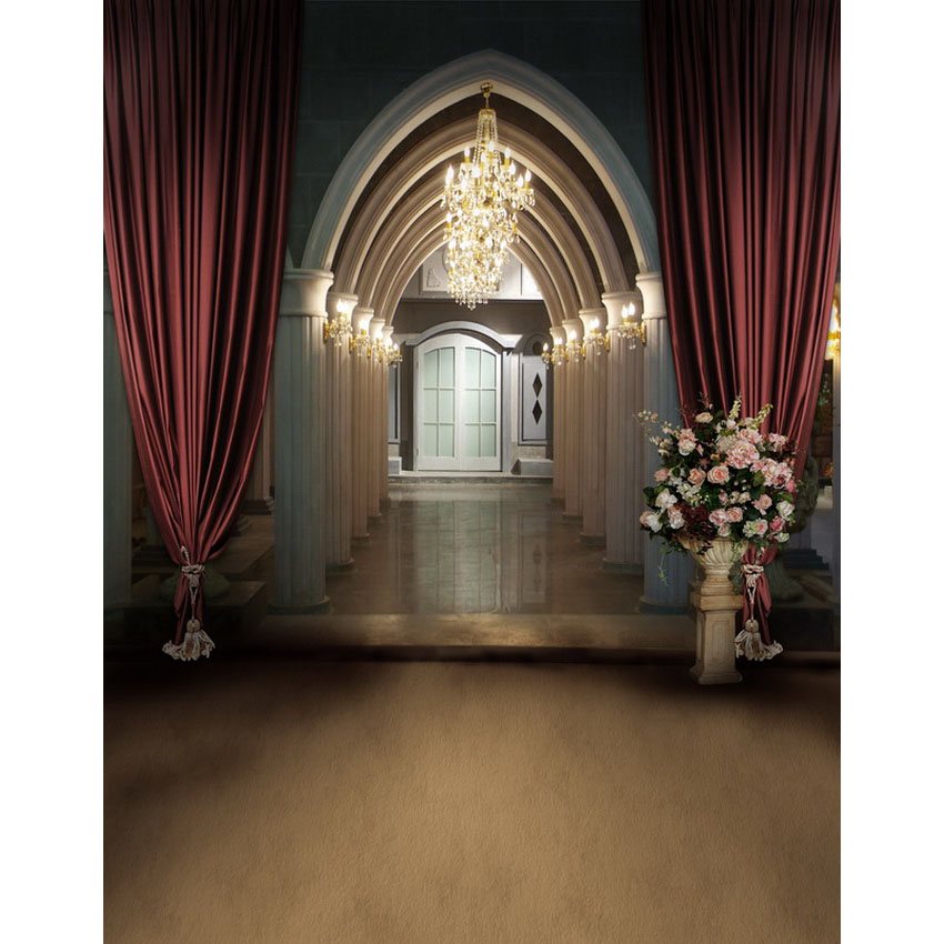 Customize vinyl cloth print European wedding church hall photo studio backgrounds for photography backdrops prop<br>