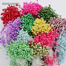 250pcs/lot 3mm Artificial Flower Stamen Fake Mini Pearl Flower Double Heads Craft Card Cake Decor Home Wedding Party Supplies 5Z