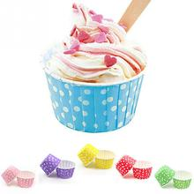 20pcs/lot Pink Blue Red Yellow Green Purple Paper Cupcake Liners Mold Muffin Cases Cake Cup Bakeware Baking Tools Cake Mold