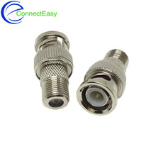 100Pcs BNC Male Plug to F Type Female Jack TV Adapter CCTV RG6 RG59 Coax RF Connector