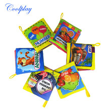 Coolplay 1PCS Soft Cloth Baby Boys Girls Books Rustle Sound Infant Educational Stroller Rattle Toys For Newborn Baby 0-12 month(China)