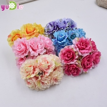 6pcs/lot Fragrant Peony Bouquet For Wedding Decoration Bridal Decorative Artificial Flowers Plants Diy Scrapbooking accessories