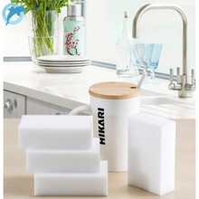 LINSBAYWU 10PCS Melamine Sponge Magic Sponge Eraser Melamine Cleaner Eco-Friendly White Kitchen Magic Eraser 10*6*2cm(China)