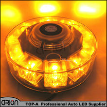 CIRION High quality 12V 10 LED Car Auto LED Mini Lightbar Beacon Emergency Recovery Flashing Warning Strobe Light Amber