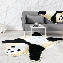 150X190CM Cute Plush Panda Carpets For Living Room Home Bedroom Soft Rugs And Carpets Coffee Table Area Rug Children Play Mat