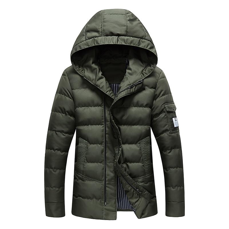 New Hooded jacket Winter 2017 mens fashion trend coat Korean Slim all-match Hooded jacket warm solid color fur collar coat XLОдежда и ак�е��уары<br><br><br>Aliexpress