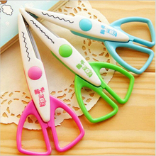 1pcs lace Scissors Metal and Plastic DIY Scrapbook Paper Photo Tools Diary Decoration Safety Scissors 3 Styles Selection YH21