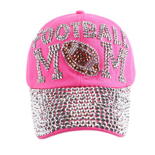 promotion new popular girl women sports baseball cap football mom style black fuchsia brand snapbacks hats woman casquette