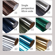 60cm wide custom tint balcony window paper heat insulation anti-glare film one-way perspective is prevented bask in paper(China)