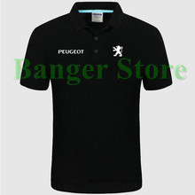 Women and men's Peugeot car logo Polo shirt 4S shop short sleeved polo shirt overalls clothing