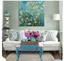 wall Art Picture for living room home decor Van Gogh Apricot blossom Almond flower oil Painting reproduction on Canvas art print