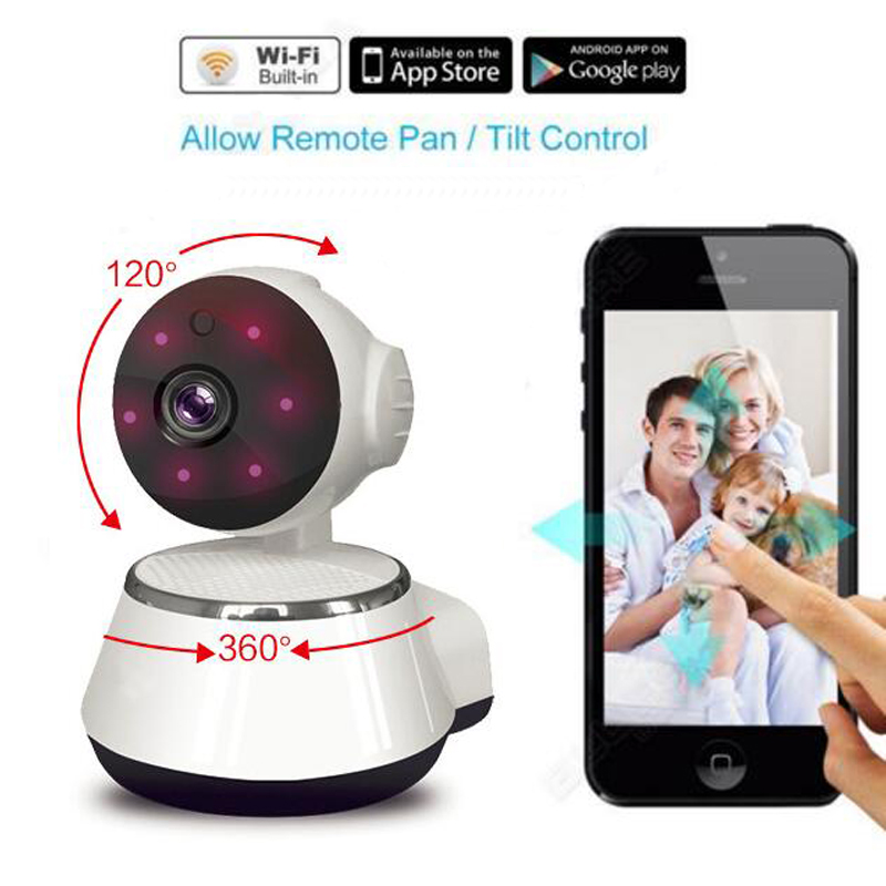 720P Baby Camera WiFi Baby Monitor Wireless IP Camera Home Security Cameras Built-in Microphone One Key Wi-fi Motion Detection<br>