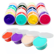 1pcs 30g Boxed Air Drying Super Light Plastic clay Putty Plasticine Polymer Educational Soft Play Dough Kids Toys Random Color(China)