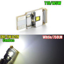 1piece 15W No Polarity 12V Car Lights T10 168 192 3030 W5W 3SMD LED CANBUS NO Error Car Marker Bulb(China)