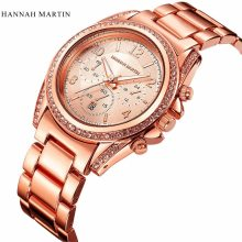 Buy Hannah Martin Women's Watches Fashion Rose Gold Wrist Watch Women Watches Luxury Diamond Watch Clock saat relogio feminino reloj for $11.19 in AliExpress store