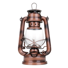 Outdoor Retro Iron Candlestick Kerosene Alcohol Lantern Hurricane Lamp Bronze