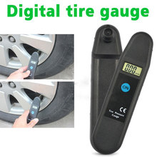 Digital LCD Display Accuracy Wheel Tire Air Pressure Gauge Tyre Tester Vehicle Motorcycle Car 5-150 PSI/KPA/BAR/KG/CM2 Detector