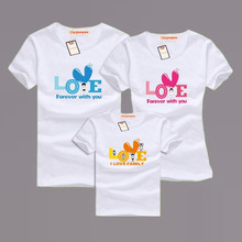 Family Matching Clothing Soft Cotton Short Sleeve T-Shirts Family Look Style Family Clothing Father Size M-4XL Family Set AF1502