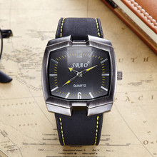Men's Fashion Super SBAO Band slim life waterproof Quartz Casual Wristwatch Business Pointer Quartz Watch Men's 2016